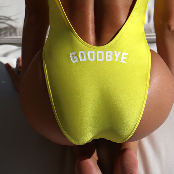 GOODBYE // BUTT PRINT // HELLO PRINT ON FRONT [SWIMSUIT]