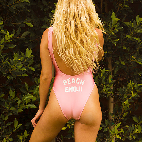PEACH EMOJI // BUTT PRINT [SWIMSUIT]