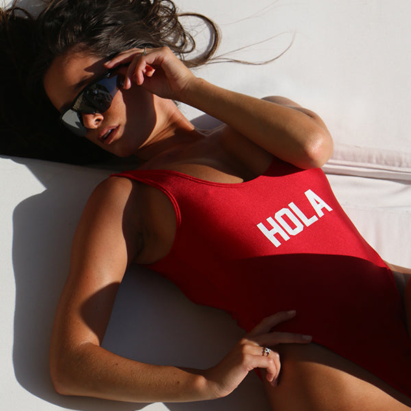 ADIOS // BUTT PRINT // HOLA // PRINT ON FRONT [SWIMSUIT]
