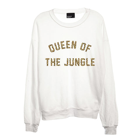 QUEEN OF THE JUNGLE W/ CHEETAH TEXT  [CREWNECK SWEATSHIRT]