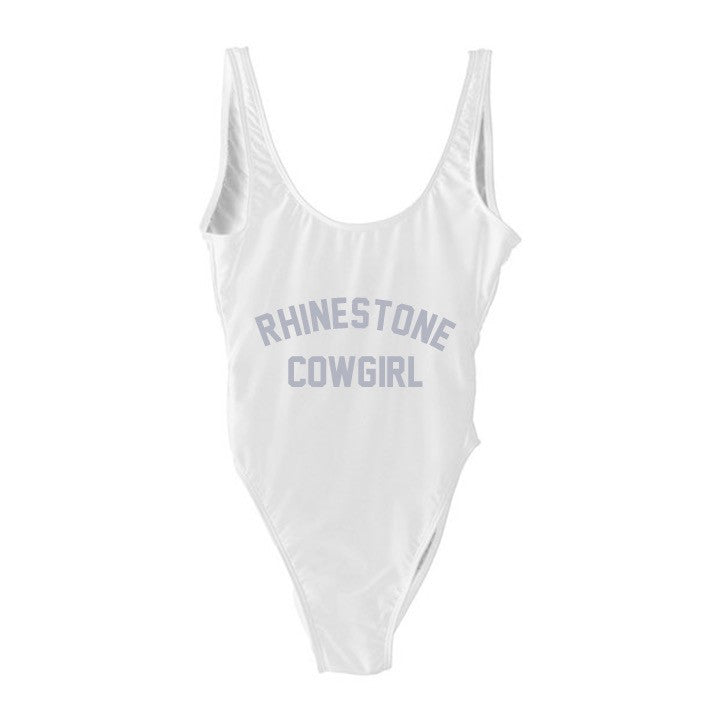 RHINESTONE COWGIRL [SWIMSUIT W/ SILVER TEXT]
