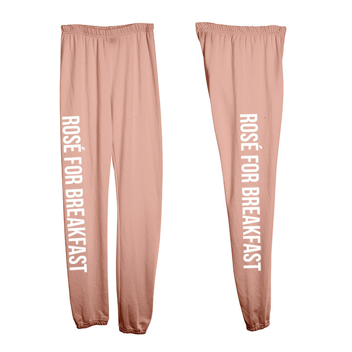 ROSÉ FOR BREAKFAST [WOMEN'S SWEATPANTS]