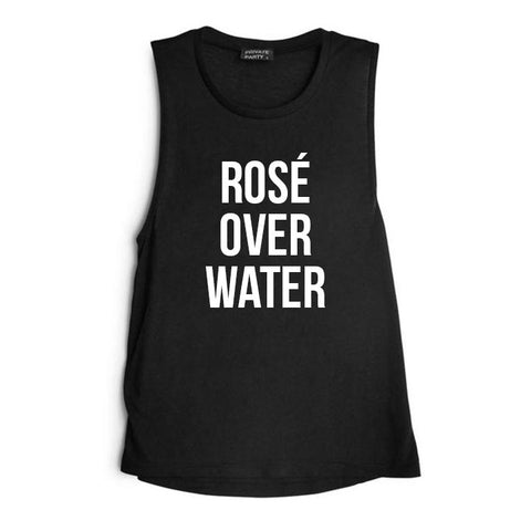 ROSÉ OVER WATER [WOMEN'S MUSCLE TANK]
