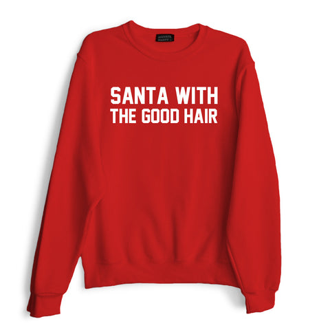 SANTA WITH THE GOOD HAIR
