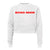 SICKO MODE [WOMEN'S RAGLAN CROP CREWNECK SWEATSHIRT]