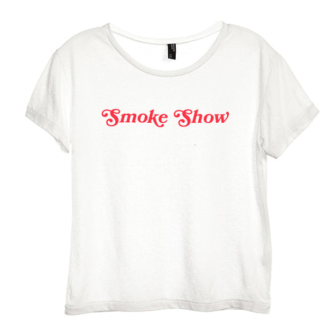 SMOKE SHOW [DISTRESSED WOMEN'S 'BABY TEE']