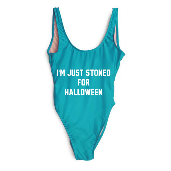 I'M JUST STONED FOR HALLOWEEN [SWIMSUIT]