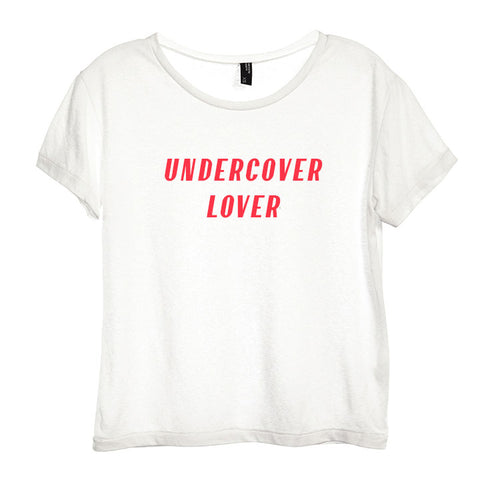 UNDERCOVER LOVER [DISTRESSED WOMEN'S 'BABY TEE']