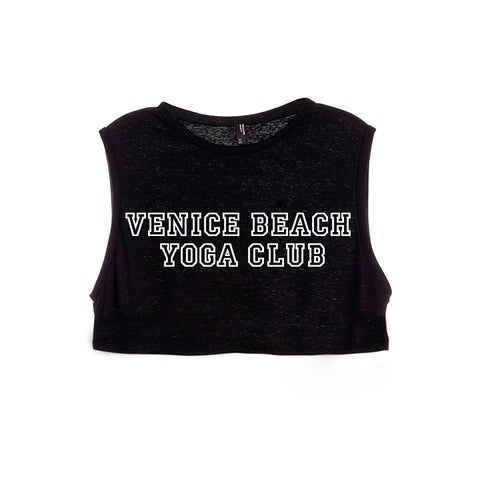 VENICE BEACH YOGA CLUB [WOMEN'S CROP TANK]