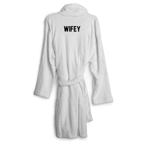 WIFEY [EMBROIDERED ROBE]