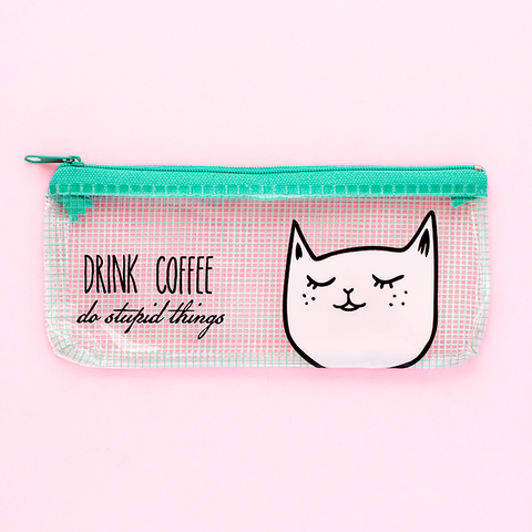Lapicera de Gatito/ Drink Coffee do Stupid Things