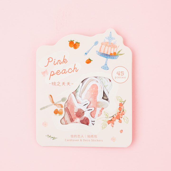 Deco stickers Pink Peach