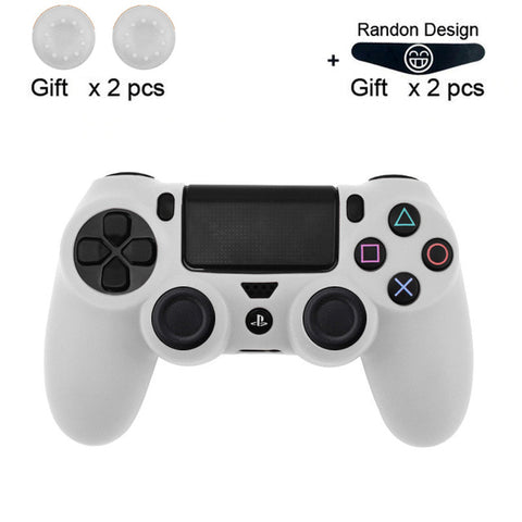 Cover Silicone for PS4 + 2 pcs Grip + Led Skin