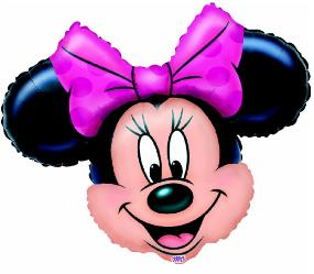 minnie mouse head supershape foil balloon