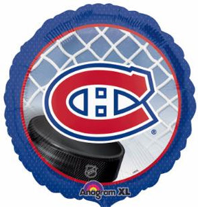 Montreal Canadiens 18 inch foil balloon empty