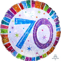 "70th Holographic 18"" foil balloon"
