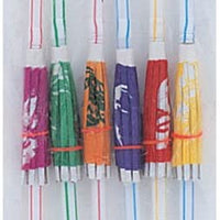 umbrella straws 6 per pack come in assorted colours