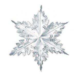 silver metallic winter snowflake 24 inches 1 per package