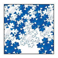 blue and silver snowflake confetti 1 ounce per package