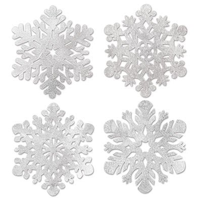 foil snowflake cutouts 14 inches 4 per package