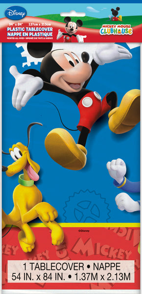 Mickey & friends plastic table cover 54 inches by 84 inches