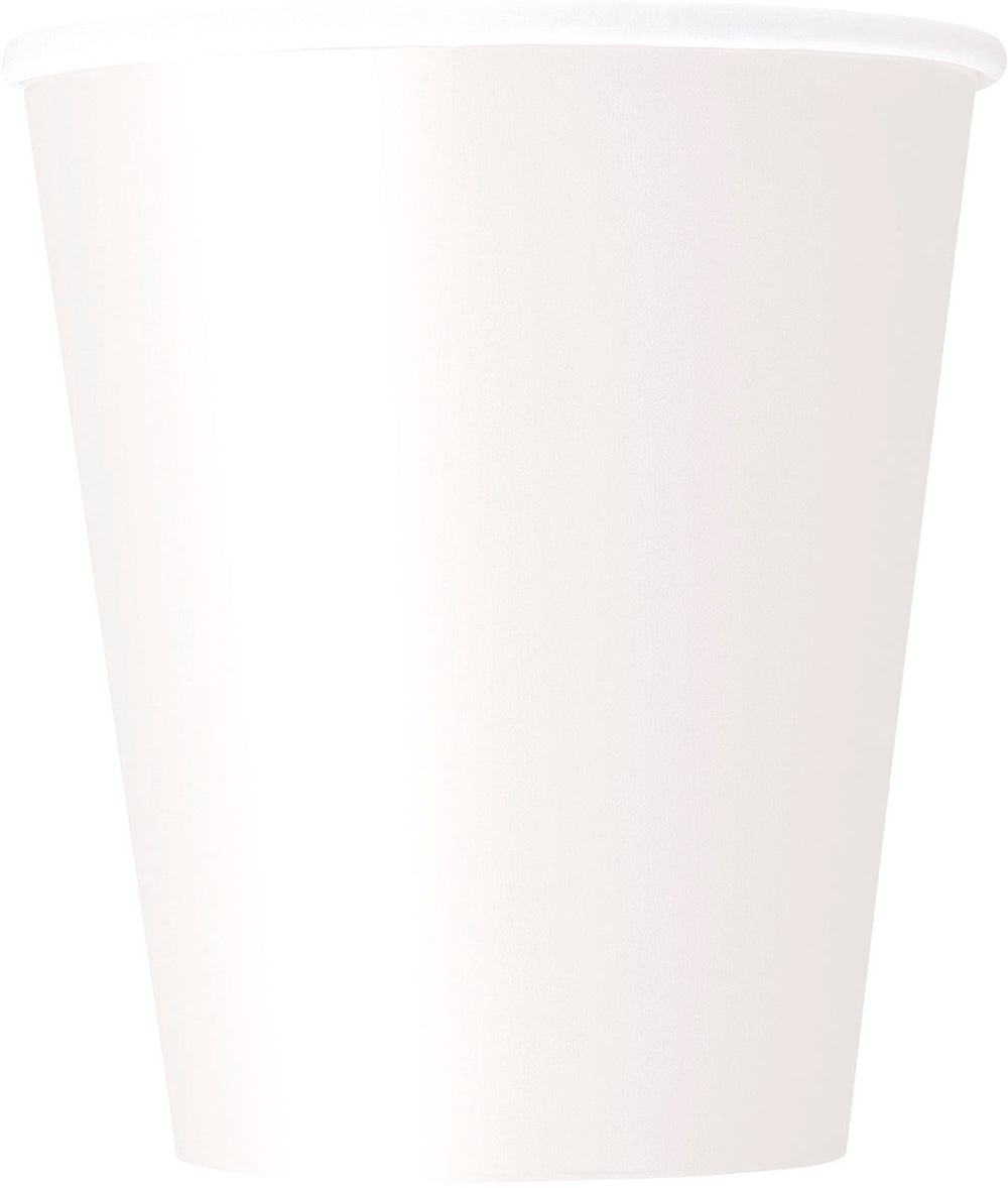 white paper cups 9 oz