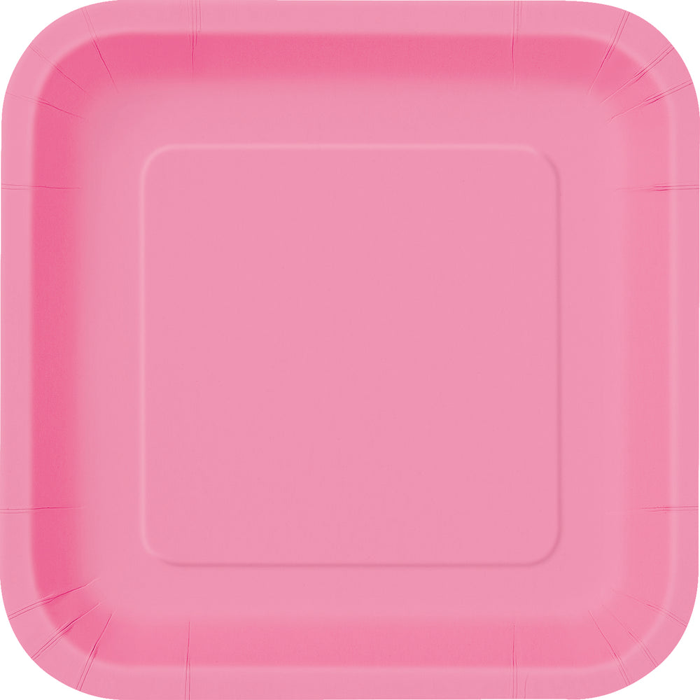 Hot Pink square Dinner Plates