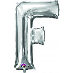 Silver Letter F Balloon 34 inch