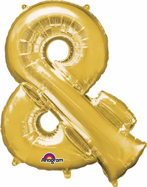 Gold & symbol foil balloon 34 inch