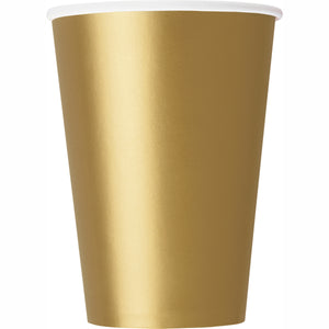 Gold paper cups 9 oz