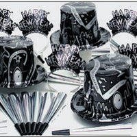 Silver Ebony New Year's Eve Party kit for 50