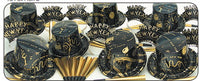 Gold Ebony New Years Eve Party kit for 10