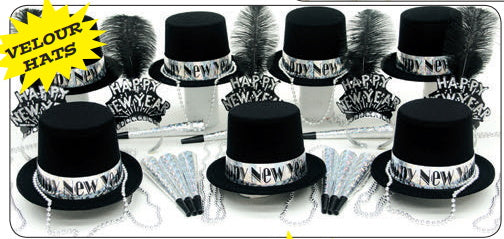 Silver Glitz New Year's Eve Party kit for 50