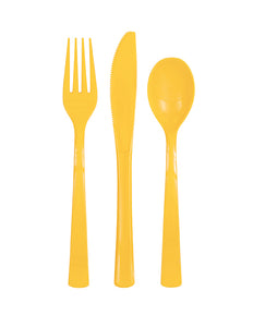 Sunflower Yellow assorted cutlery