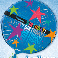 "Cosmic Birthday 18"" foil balloon"
