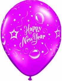 New Year Printed Latex balloons