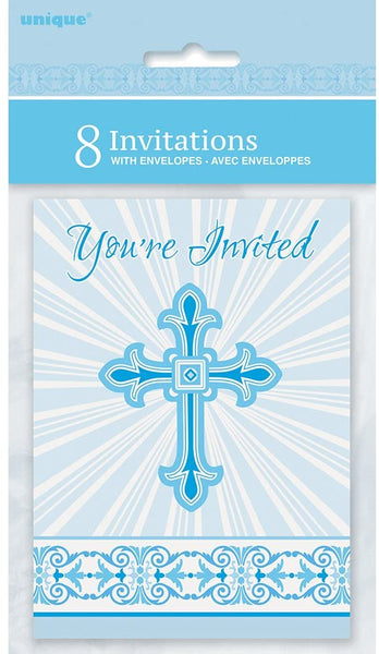 radiant blue cross invitations