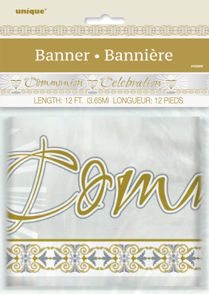gold/silver radiant cross communion celebration banner, packaged