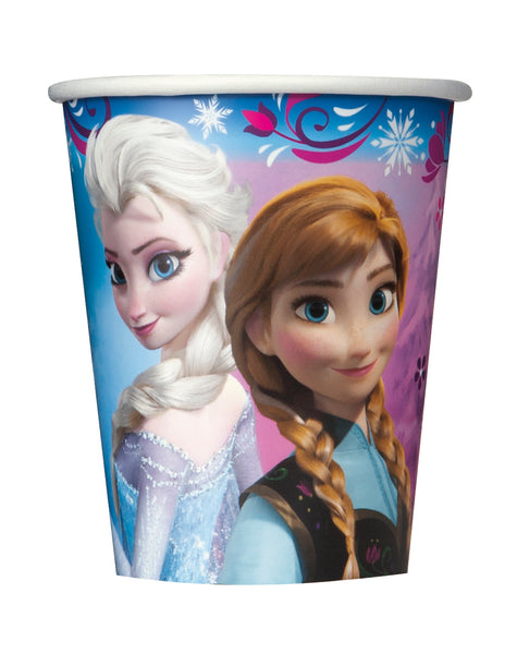 frozen 9oz cups with anna and elsa 8 per package