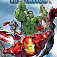 Avengers invitations 8 count featuring thor, iron man, captain america and the hulk