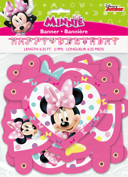 minnie mouse jointed banner packaged