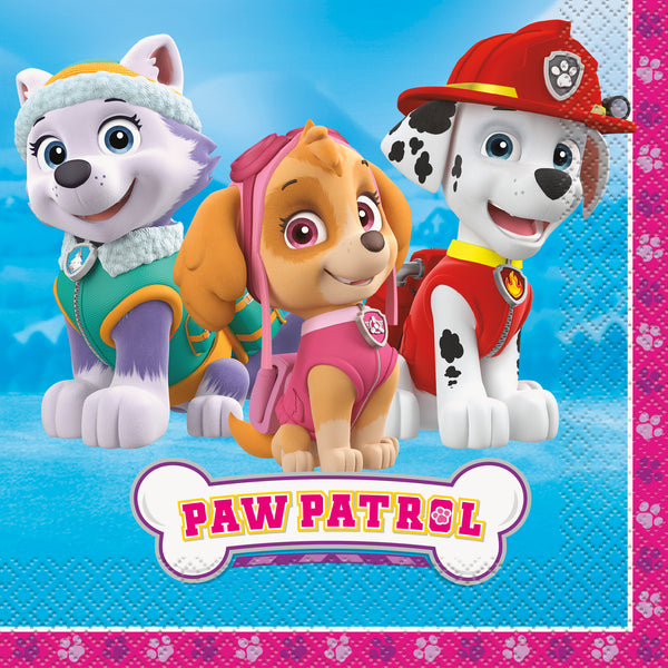 paw patrol girl luncheon napkins