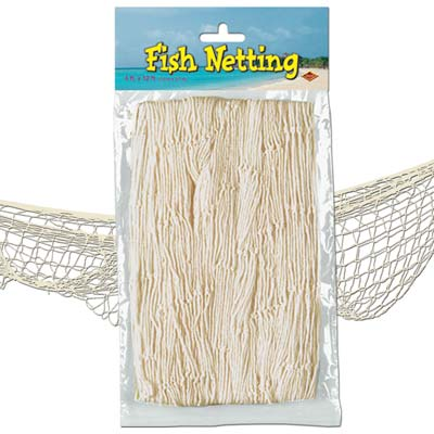 fish netting natural coloured 4 feet by 12 feet