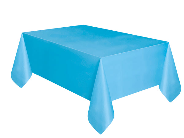 Powder Blue Plastic Table Cover