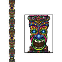 jointed tiki totem pole 7 feet 1 per package