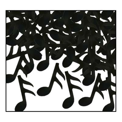 black music note confetti 1 ounce per package