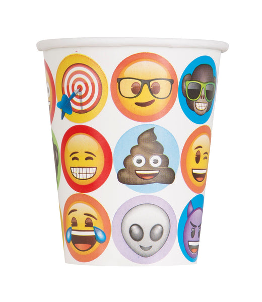 Emoji 9oz paper cups 8 count