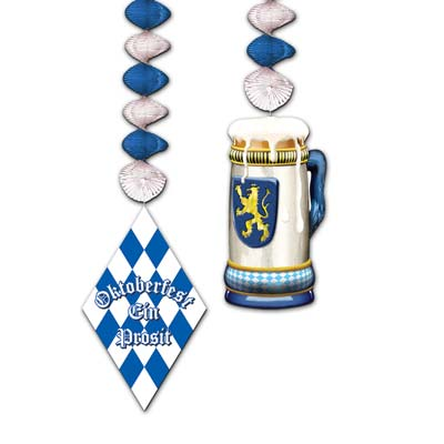 oktoberfest dangling decor measure 30 inches  2 per package