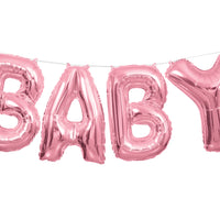 "Pink Baby 14"" foil balloon letters"