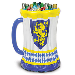 inflatable beer stein cooler 18 inches by 27 inches holds approximately 48, 12 oz cans